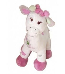 Doudou peluche Vache Girafe rose mauve BEBISOL Arthur et Lola