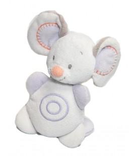 Doudou peluche musicale souris blanche Bubble Nattou 16 cm