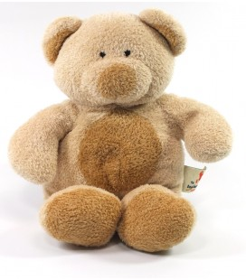 Ours doudou peluche beige rond ventre Marron Nicotoy The Baby collection 22 cm