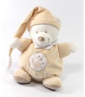 Doudou Ours beige iseau Etoile 22 cm Nicotoy 579/8185