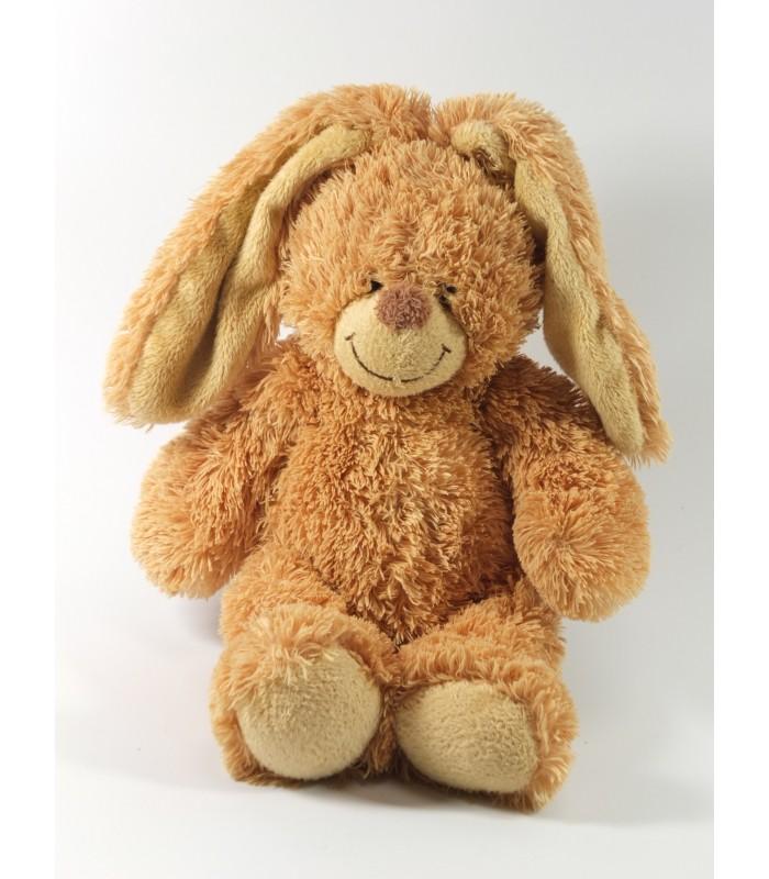 Doudou peluche lapin marron pop kids kiabi longs poils 40 cm - Peluche lapin marron ...