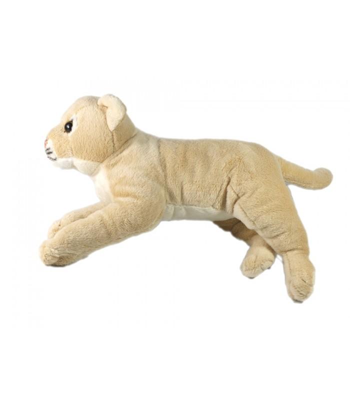 Doudou Peluche Cougar Puma Tigre beige Nicotoy allongé 32 cm