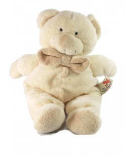 Doudou Ours beige Noeud Papillon Nicotoy The Baby Collection 25 cm