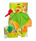 BaBYMOOV - Oiseau Toucan vert orange - Jungle-Doo - Doudou Peluche