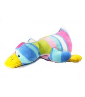 Doudou peluche canard Multicolore Maxita allongé 38 cm