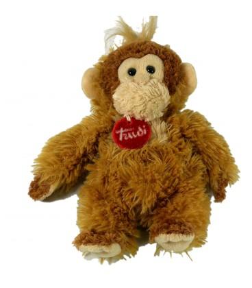 Doudou peluche singe marron Trudi 18 cm