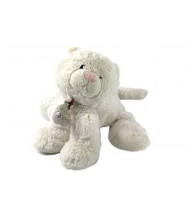 Doudou peluche Chat blanc Histoire d'Ours 18 cm