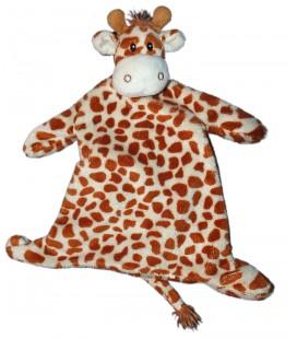 Doudou plat Girafe marron KIMBALOO La Halle 38 cm 9511