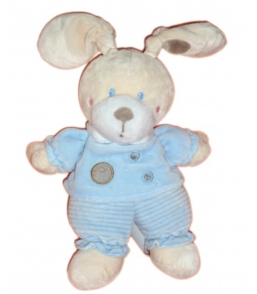 Doudou LAPIN bleu ronds NICOTOY Simba - H 26 cm - 579/6636
