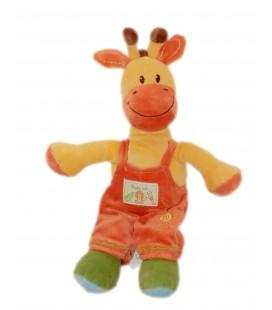 Doudou Girafe orange salopette Ma Petite Tribu 30 cm