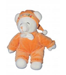 Doudou peluche OURS Orange - Gipsy - Baby Bear - H 32 cm