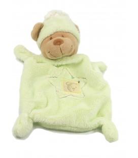 Doudou ours plat vert Fenêtre Nicotoy 570/8533 Etoile