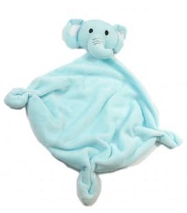 Babou Doudou plat éléphant bleu NEUF ETIQ.