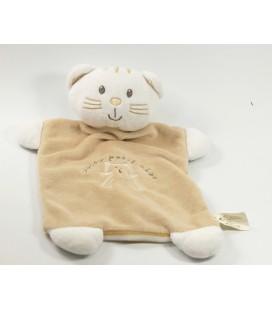 Doudou plat Coucou Petit Chat beige Vetir 5795473