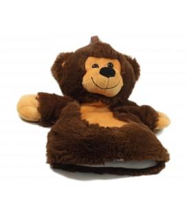 Doudou Marionnette Ours brun beige marron Jeux 2 Mômes