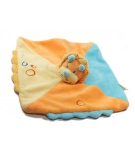 Doudou plat Rhinoceros Jaune orange bleu Kiabi Jogystar