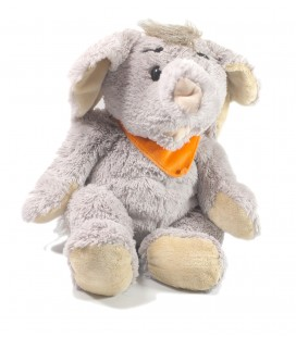 Doudou peluche Elephant foulard orange 45 cm Althans club