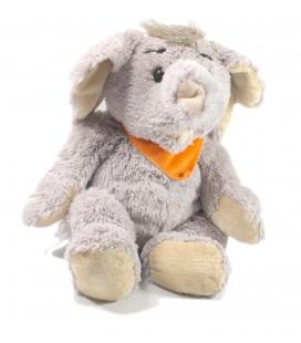 Doudou peluche Elephant foulard orange 45 cm Althans club