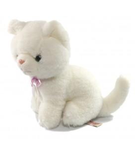 Doudou peluche chat blanc 22 cm Althans club