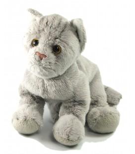 Peluche doudou chat gris cm Gipsy L 20 cm