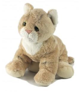 Peluche doudou chat tigre beige Gipsy 20 cm