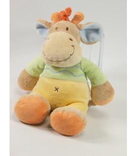 Peluche doudou girafe beige vert Nicotoy