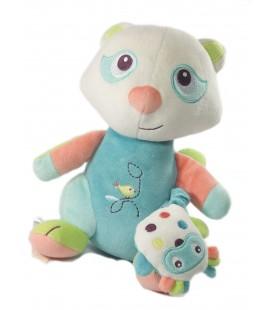 Doudou Panda raton laveur Peluche musicale oiseau Sucre d'Orge 23 cm