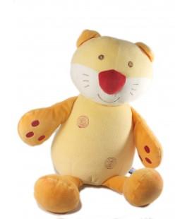 Doudou chat jaune orange Range Pyjama Sucre d'Orge 40 cm