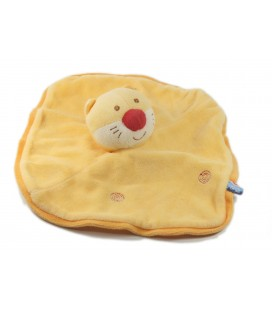 Doudou plat chat orange Sucre d'Orge