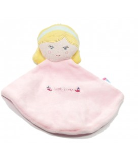 Doudou plat Fille rose blonde Sucre d'Orge