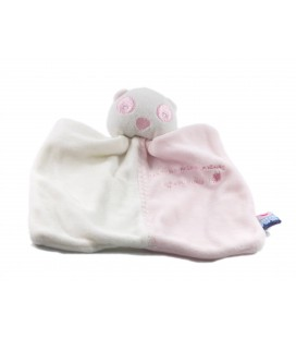 Doudou Les bébés Ratons Laveurs blanc rose Sucre d'Orge
