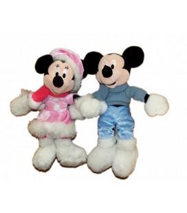 Doudou peluche MICKEY et MINNIE Disneyland Resort Paris 30 cm Lot de 2