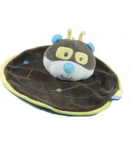 Doudou plat rond Raton laveur ours Panda Koala Sucre d'Orge