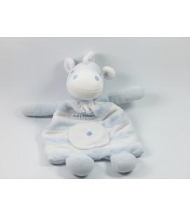 Doudou cheval blanc bleu Sucre d'Orge
