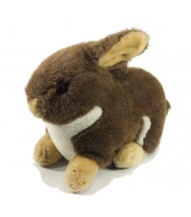 Peluche Doudou Lapin lièvre marron allongé 35 cm Gipsy
