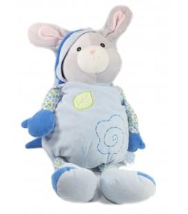 Peluche Doudou Range Pyjama Souris bleue 60 cm Gipsy