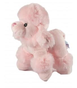 Doudou peluche CHIEN Caniche Rose - Gipsy - H 20 cm