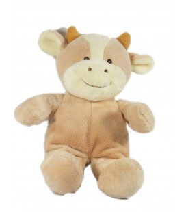 Peluche Doudou Vache beige Gipsy 25 cm