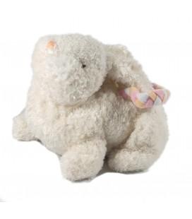 Peluche Doudou Sac Lapin blanc 16 cm Gipsy