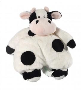 Doudou peluche vache ABC blanc noir Grelot 32 cm Kimbaloo