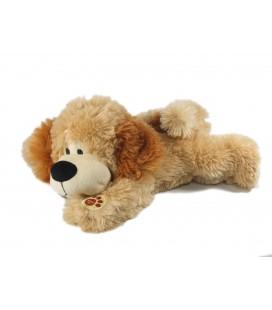 Ne fonctionne plus - Doudou peluche Musicale chien beige marron allongé30 cm Gipsy