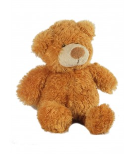 Doudou peluche ours marron roux 22 cm Gipsy