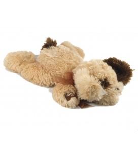 Ne fonctionne plus - Doudou peluche chien crème marron allongé 42 cm Cobico