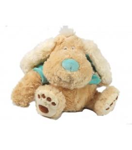 Doudou peluche chien beige pull bleu Dizzy Dog Anna Club Plush 30 cm