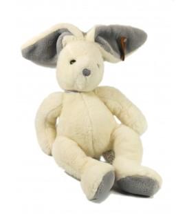 Doudou peluche Lapin blanc gris 35 cm Anna Club Plush