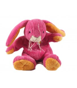 Peluche Doudou Lapin rose orange 22 cm Anna Club Plush