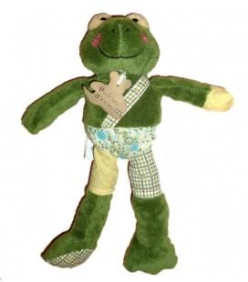 Doudou peluche GRENOUILLE verte HISTOIRE D'OURS - Frog Baby Comforter - 25 cm