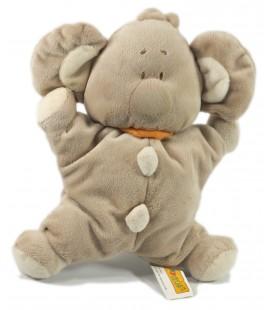 Peluche doudou Koala gris beige grelot 26 cm Playkids