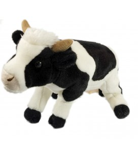 Peluche Vache blanche noire L 36 cm Playkids Collection