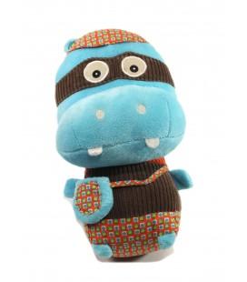 Peluche doudou Hippo Hippopotame bleu 26 cm Super Zeros